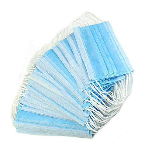 50 pcs Disposable Face Mask Safety Mask Dust for Medical Dental Salon and Personal Health, 3-Ply Ear Loop